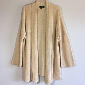 Ralph Lauren Long Cardigan Plus Size Knit Sweater